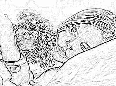 Девочка заболела - лежит в кровати