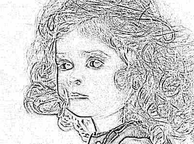 Девочка кудрявая