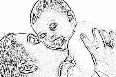 Мама и малыш улыбаются