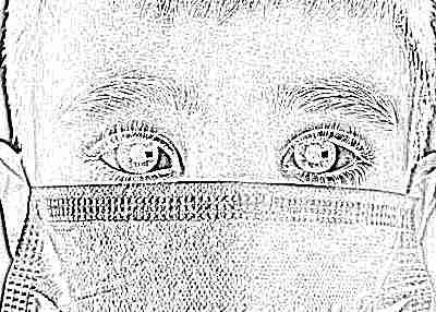 Ребенок в маске при болезни