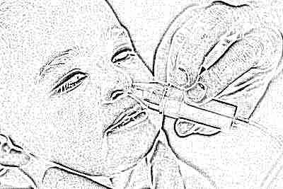 Промывание носа ребенком