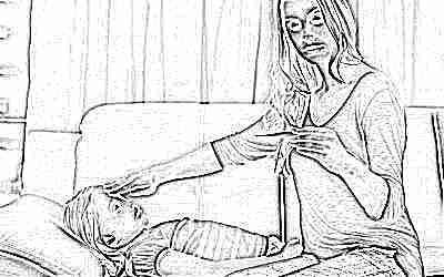 У ребенка температура, мама рядом