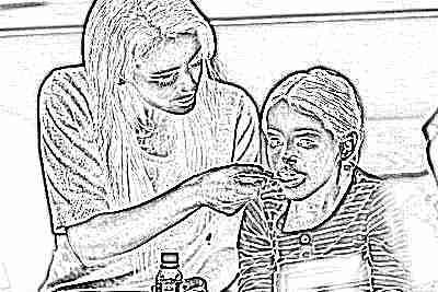 Жаропонижающая таблетка для девочки