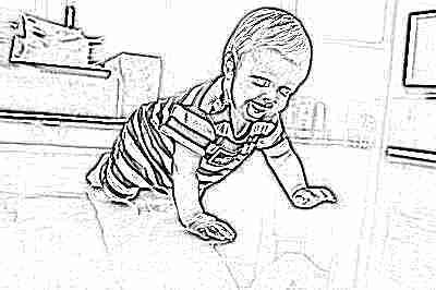 Ребенок в 7 месяцев ползет