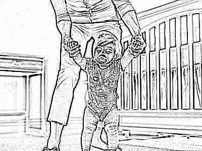 Ребенок учится ходить в 10 месяцев