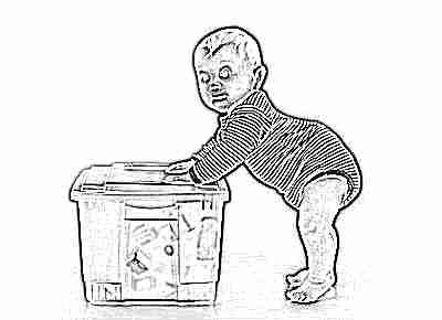 Ребенок ходит с опорой в 8 месяцев