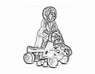 Ребенок с автомобилем - активные игры