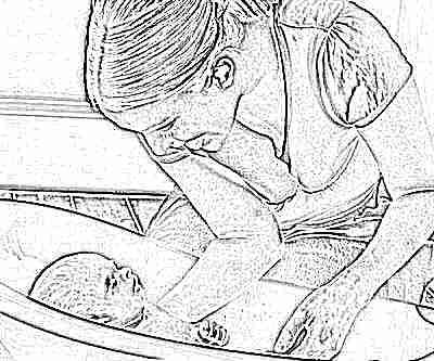 Купание ребенка в 1 месяц