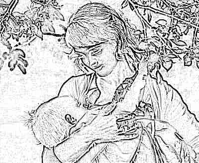 Ребенка мама кормит грудью в 11 месяцев