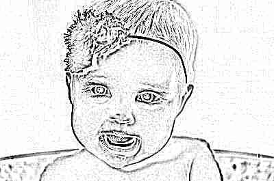 Девочка с ободком в 5 месяцев