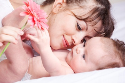 Мама и малыш 5 месяцев