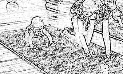 Ползание ребенка в 6 месяцев с мамой