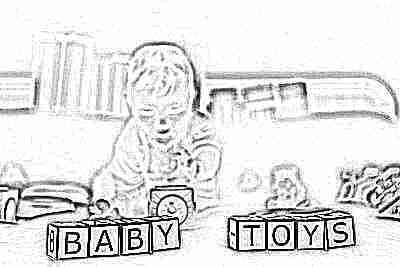 Ребенок 6 месяцев играет в кубики
