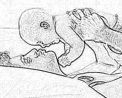 Ребенок 6 месяцев с папой