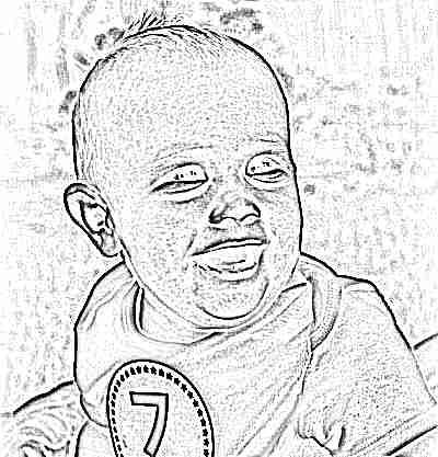 Ребенок 7 месяцев улыбается