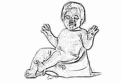Ребенок в 7 месяцев на горшке