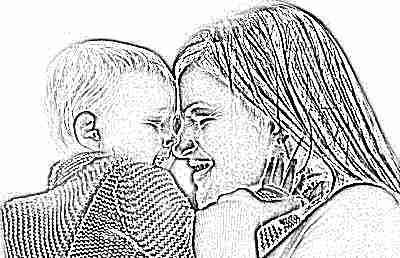 Ребенок 8 месяцев у мамы на руках