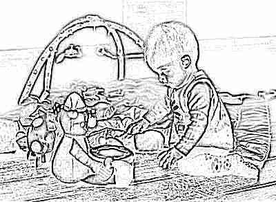 Ребенок 9 месяцев играет в игры