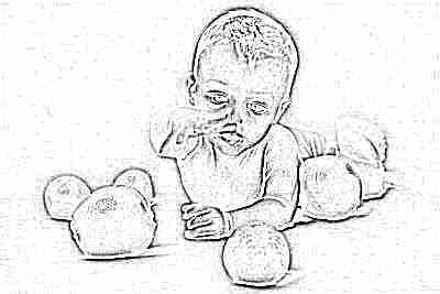 Грудничок с апельсинами