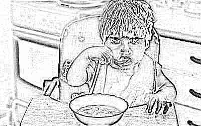 Ребенок придерживается диеты при повышенном ацетоне