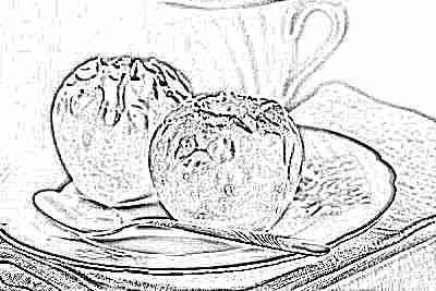 Печеные яблоки для прикорма