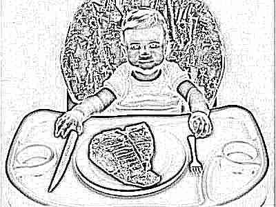Грудничок и мясо