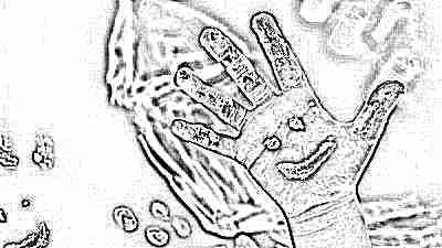 Рисование на руках ребенка