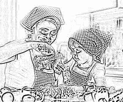 Приготовление еды с ребенком
