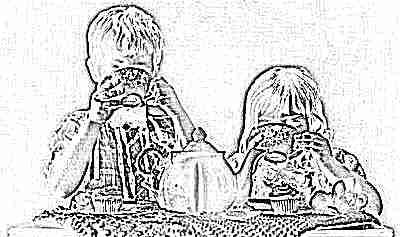 Черный чай пьют дети