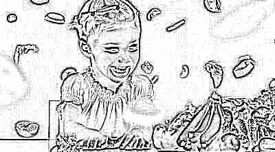 Ребенок и продукты, богатые витаминами