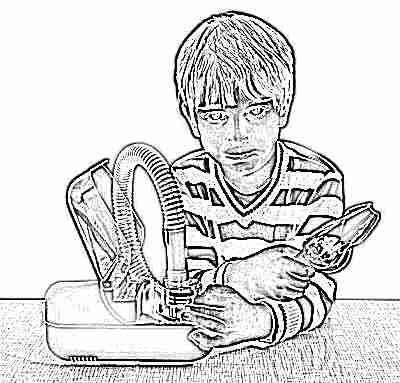 Ребенок с ультразвуковым ингалятором