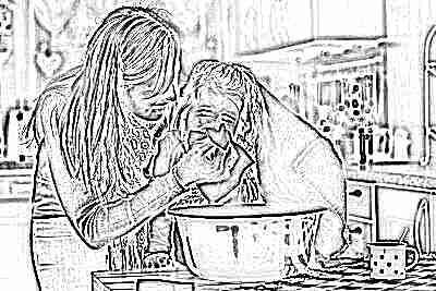 Домашняя ингаляции для ребенка с тазиком или кастрюлей