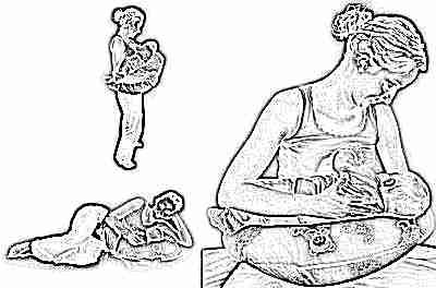 Специальная подушка для кормления новорожденного