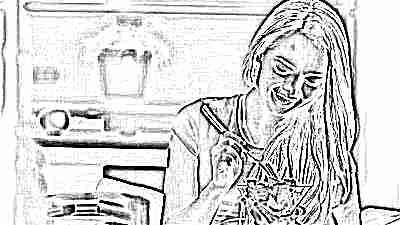 Питание девушки подростка