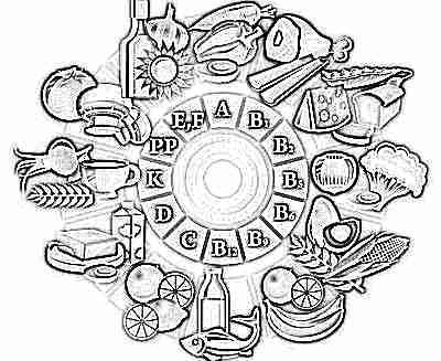 Витамины из пищи для ребенка