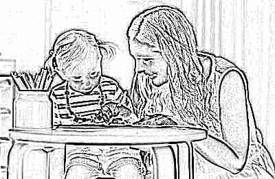 Занятия мамы с ребенком