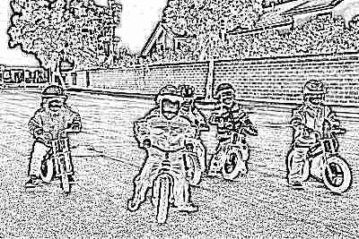 Дети на велобайках