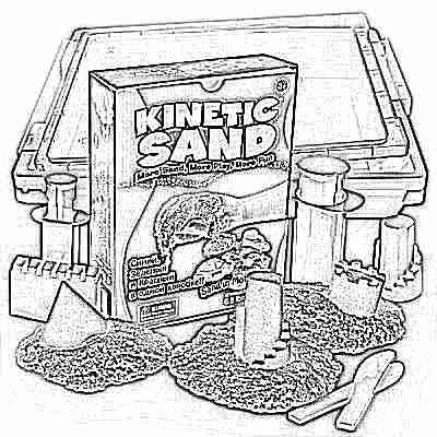 кинетический песок в песочнице