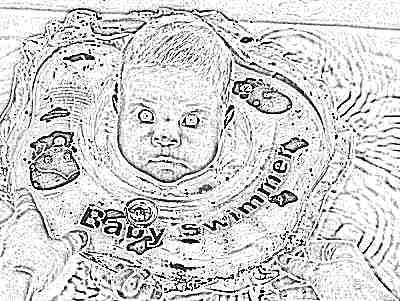 Круг Baby Swimmer на шею для купания новорожденных