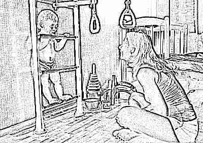 Шведская стенка для ребенка в 1,5 года