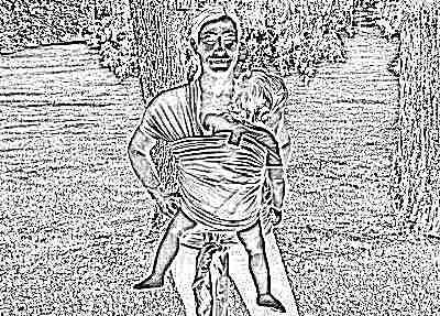 Слинг-шарф для переноски новорожденных