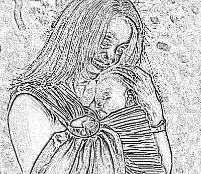 Слинг на кольцах для переноски новорожденных