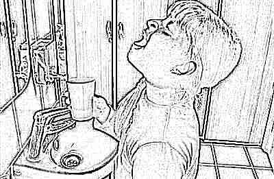 У грудничка во рту белое пятно