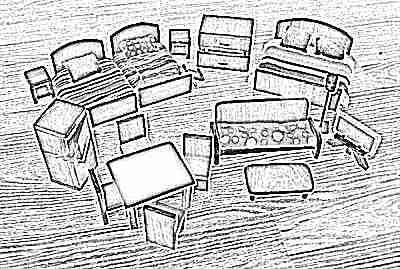Сделать своими руками кукольную мебель из картона своими руками 53