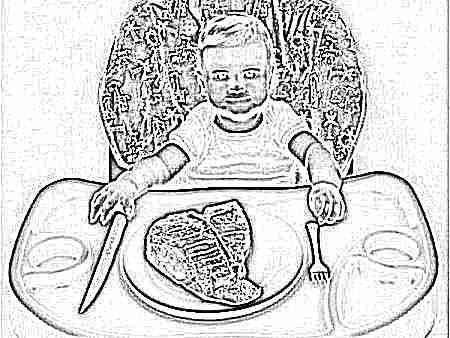 Ввод в прикорм мяса