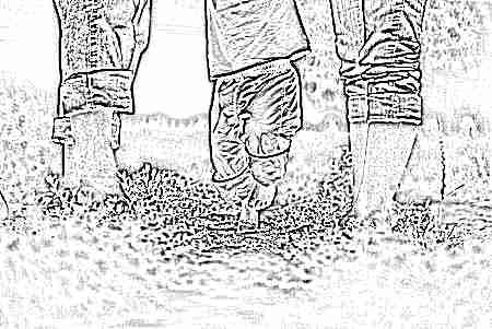Топтать член ногами в белых носочках