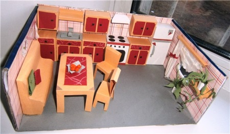Как сделать мебель в коробке из под обуви