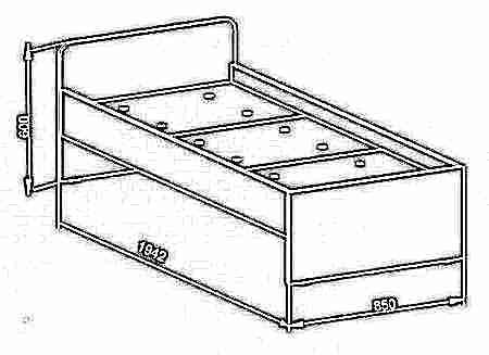 Сделать детскую кровать из лдсп своими руками чертежи 87