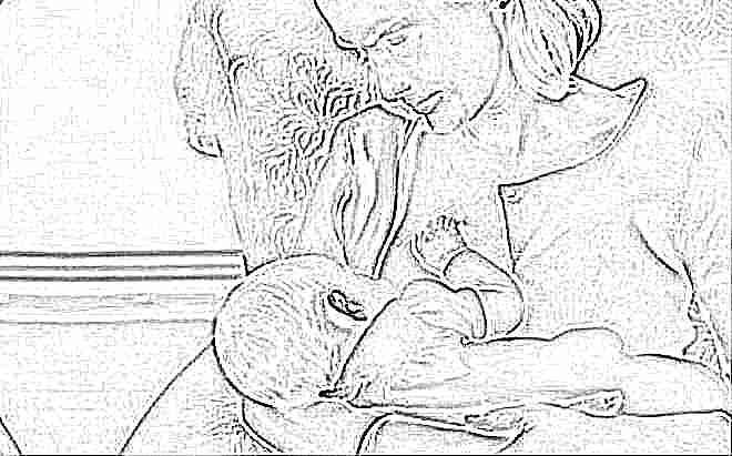 Сидячее положение при кормлении грудью