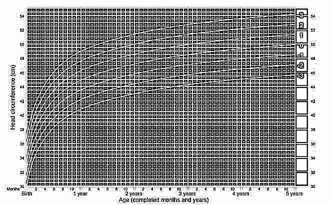 Окружность головы девочек с рождения до 5 лет ВОЗ